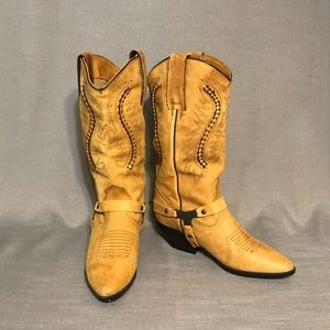 Maine Woods leather cowgirl boots w/harness